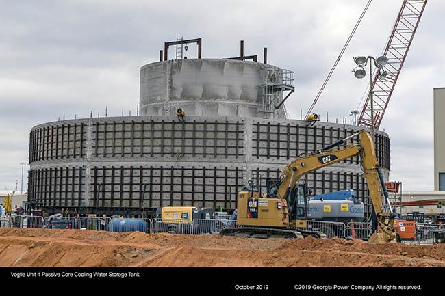 Vogtle Unit 4 Passive Core Cooling Water Storage Tank