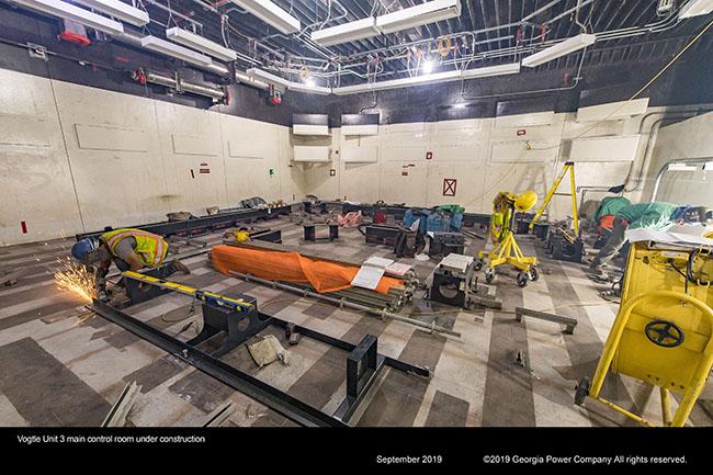 Vogtle Unit 3 main control room under construction