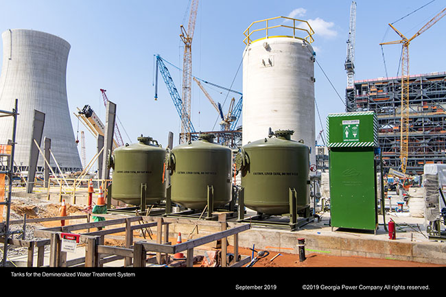 Tanks for the Demineralized Water Treatment System