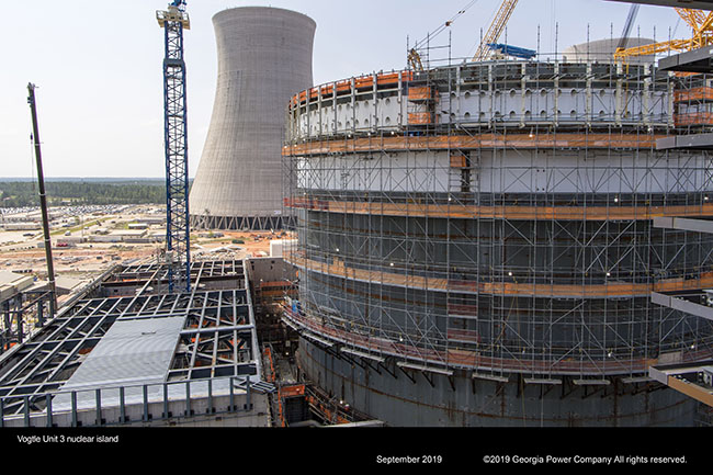 Vogtle Unit 3 nuclear island