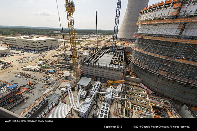 Vogtle Unit 3 nuclear island and annex building