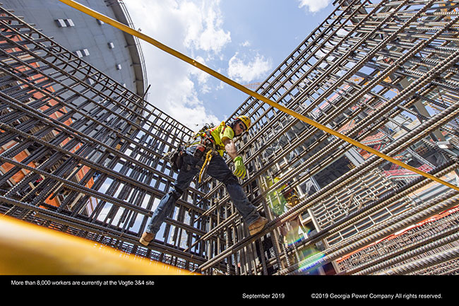 More than 8,000 workers are currently at the Vogtle 3&4 site