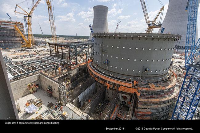 Vogtle unit 4 containment vessel and annex building