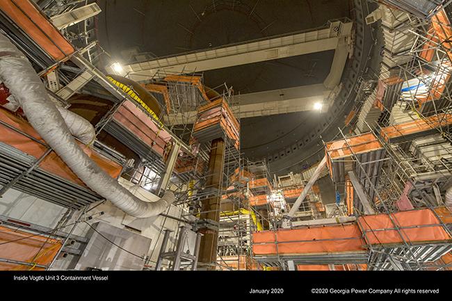 Inside Vogle Unit 3 Containment Vessel