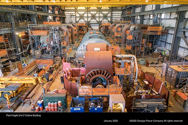 Plant Vogtle Unit 3 Turbine Building