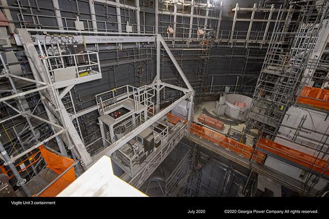 Vogtle Unit 3 containment