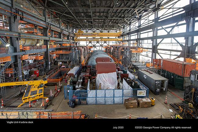 Vogtle Unit 4 turbine deck
