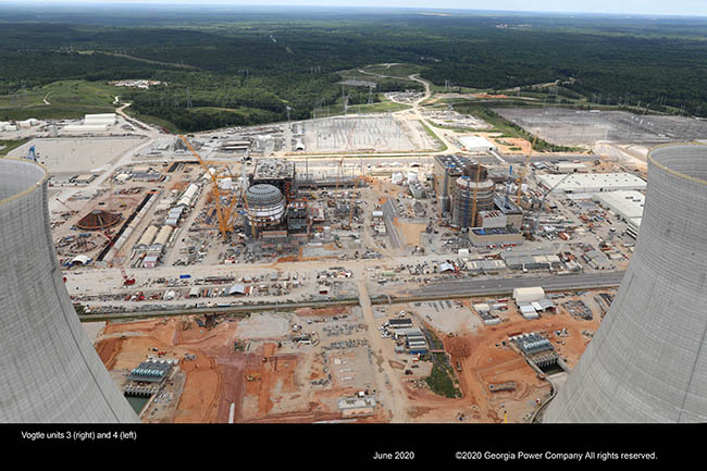 Vogtle Unit 3 (right) and 4 (left)