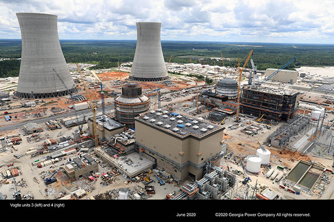 Vogtle Unit 3 (left) and 4 (right)