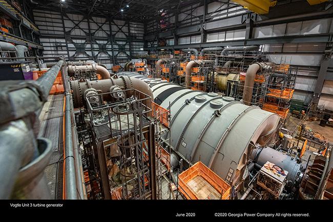 Vogtle Unit 3 turbine generator
