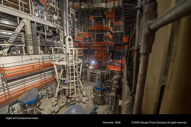 Vogtle Unit 3 containment vessel