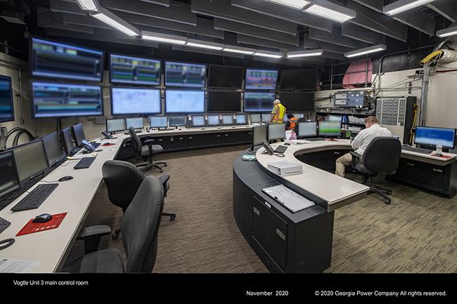 Vogtle Unit 3 main control room.
