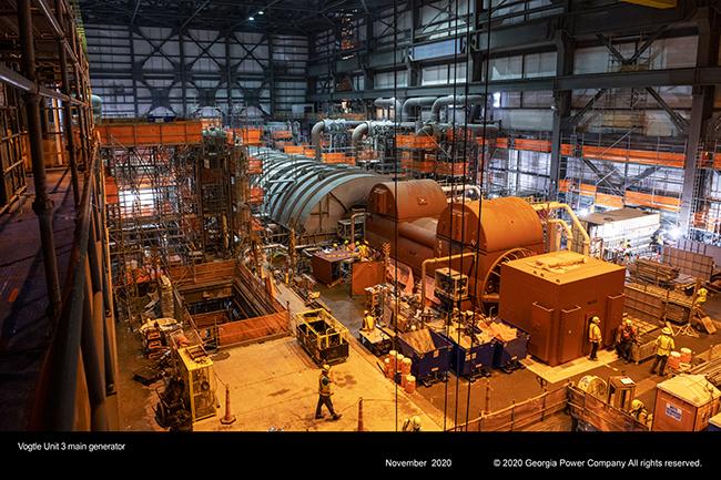 Vogtle Unit 3 main generator