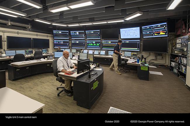 Vogtle Unit 43 main control room
