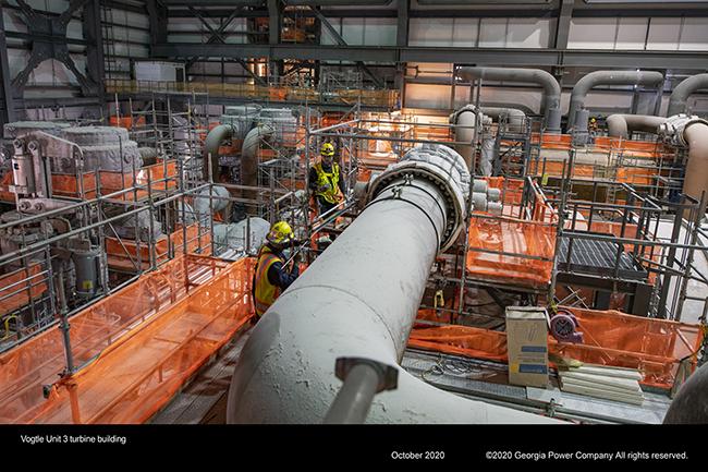 Vogtle Unit 43 turbine building