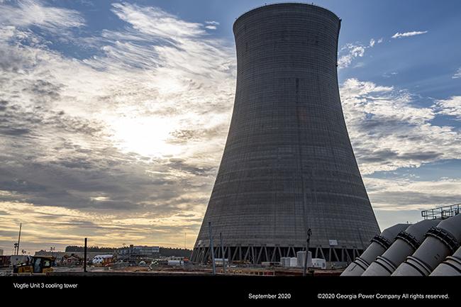 Vogtle Unit 3 cooling tower