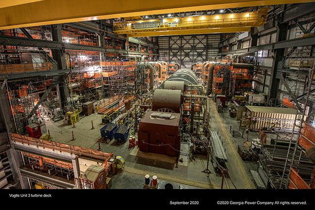 Vogtle Unit 3 turbine deck
