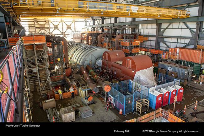 Vogtle Unit 4 Turbine Generator