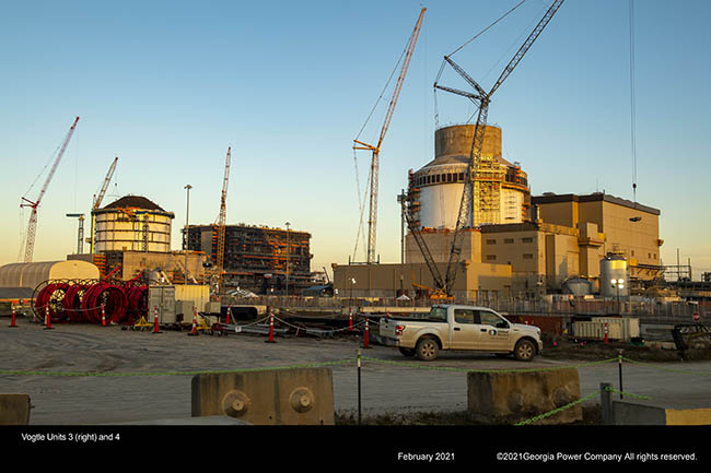 Vogtle Unit 3 (right) and 4