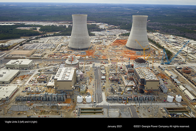 Vogtle Units 3 (left) and 4 (right)