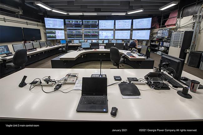Vogtle Unit 3 main control