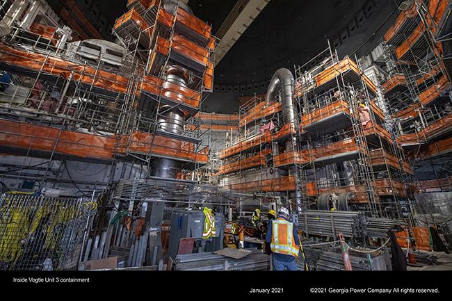 Inside Vogtle Unit 3 containment