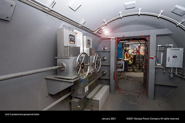 Unit 3 containment personnel hatch