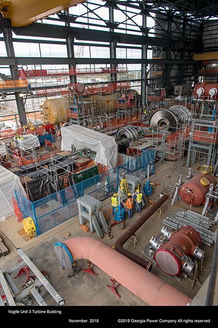 Vogtle Unit 3 Turbine Building