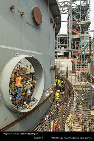 Progression of Vogtle Unit 4 shield building wall