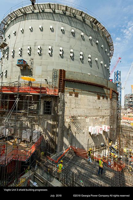 Unit 3 shield building progresses
