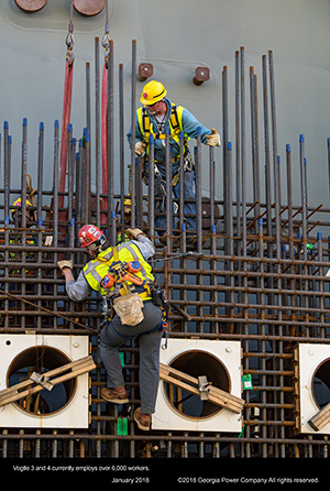 Vogtle 3 and 4 currently employs over 6,000 workers