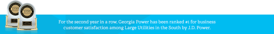 Highest in customer satisfaction with business and residential electric service in the South among large utilities