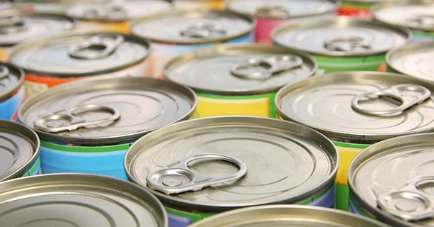 tin cans - focus on foreground