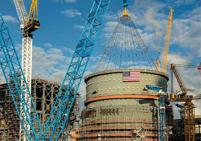 Final containment vessel ring placed for Vogtle Unit 3