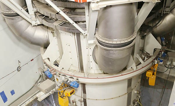 Integrated Head Package for Vogtle Unit 3 placed atop reactor vessel