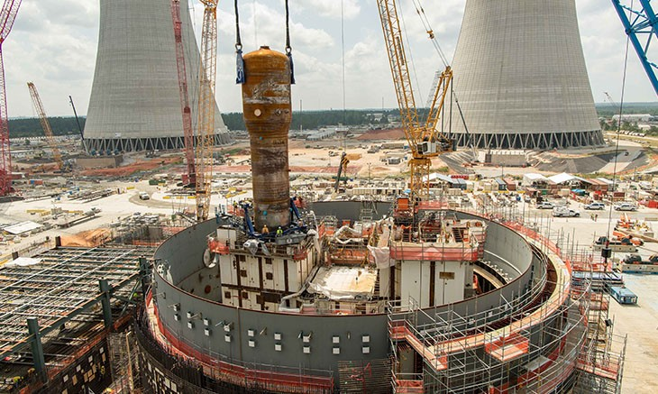 1.4 million pound steam generator placed for Vogtle Unit 4